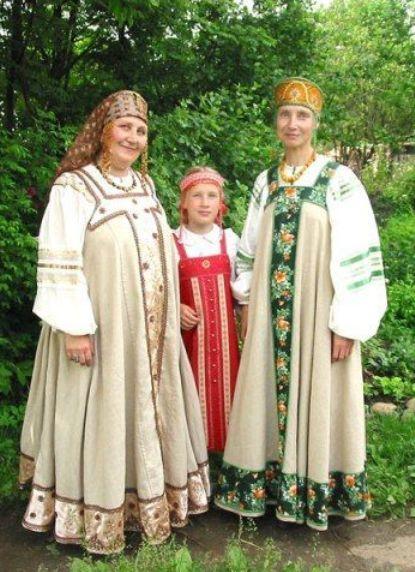 Особенности русской одежды