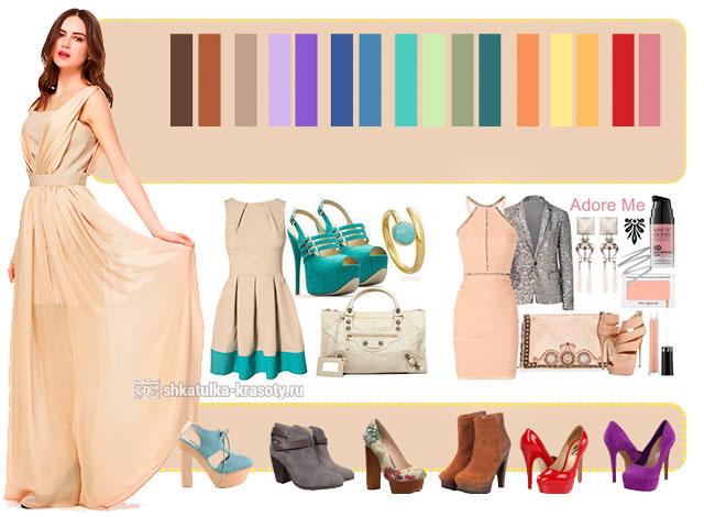 Особенности выбора одежды бежевого цвета
