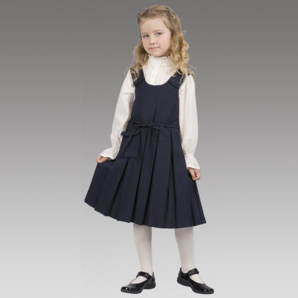 Платье для школы черного цвета