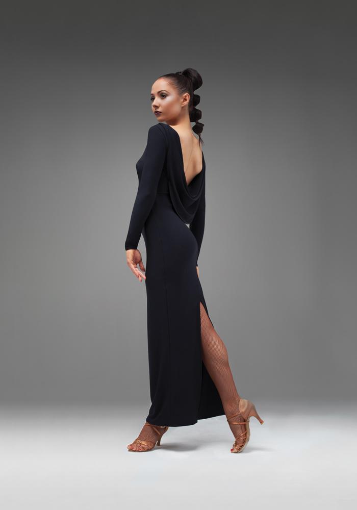 Платье для танцев черного цвета