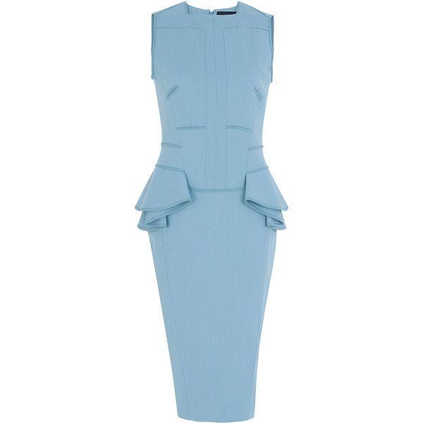 Платье футляр голубого цвета