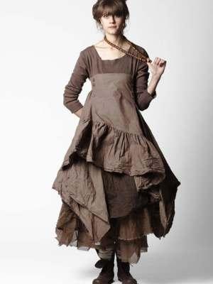 Платье коричневого цвета