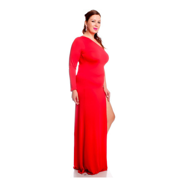 Платье красного цвета для полной женщины