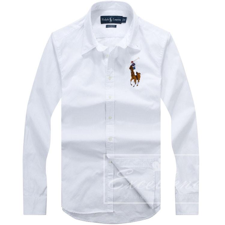 Пример белой рубашки для мужчины