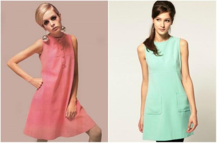 Приталенные коротки платья ярких тонов