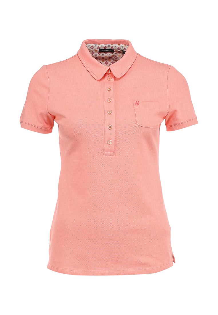 Розовая женская футболка-поло Marc O'Polo