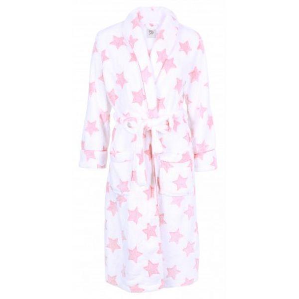 Розовый женский домашний халат