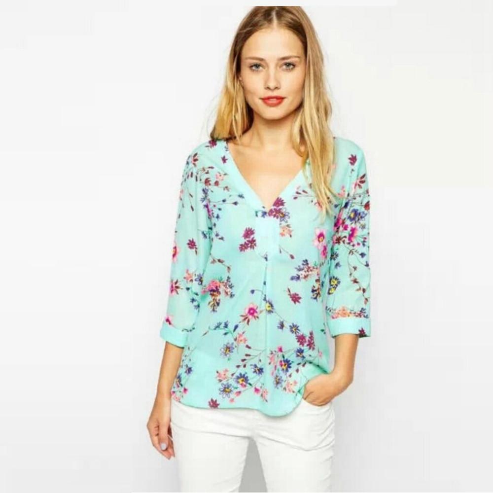 Рубашка с цветочным мотивом