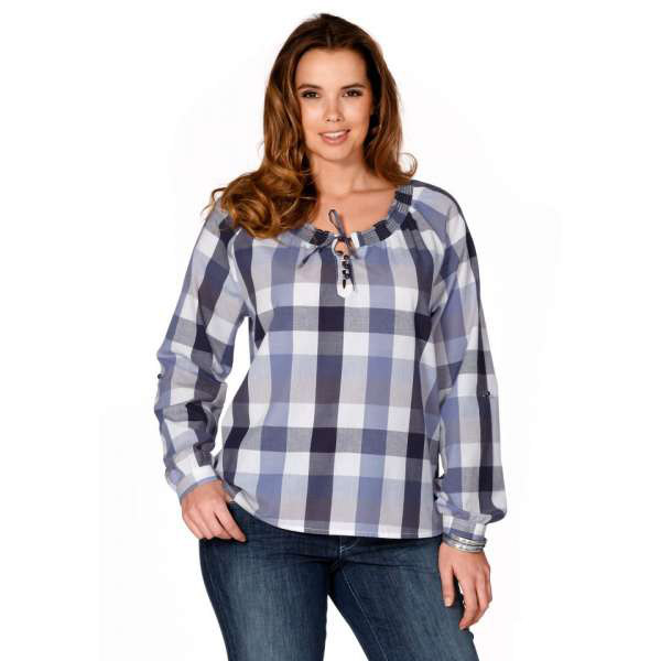 Рубашка в клетку женская