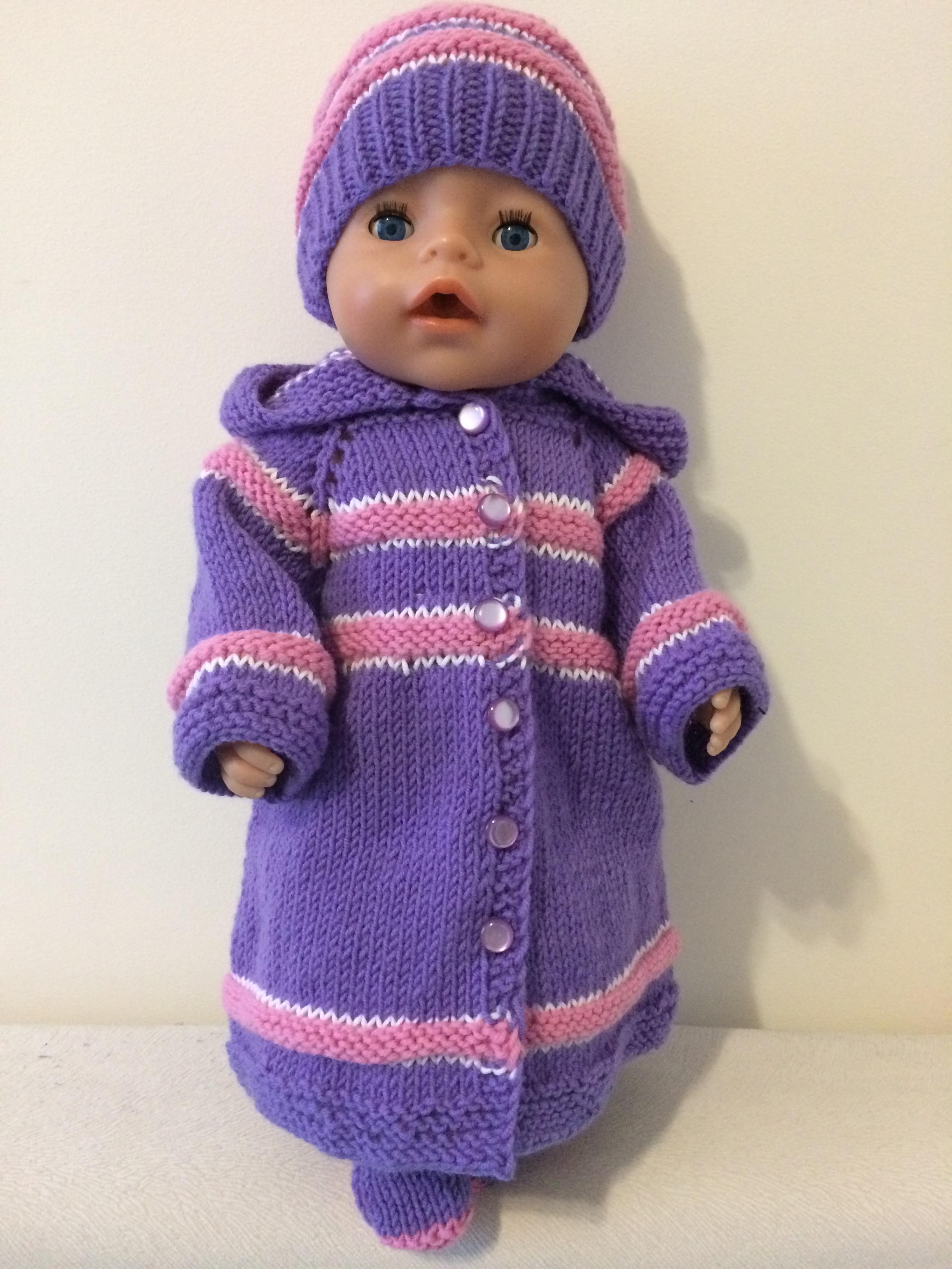 Ручная вязка одежды для кукол