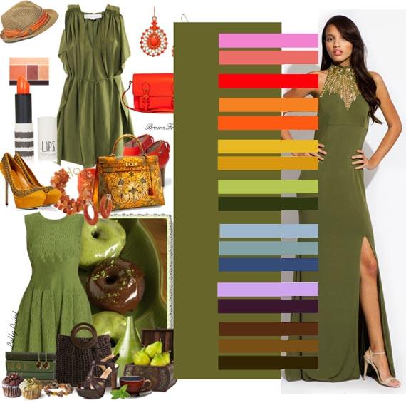 С чем стоит носить оливковый цвет в одежде
