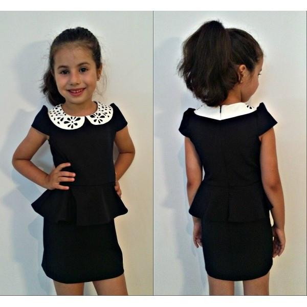 Школьное платье на девочку черного цвета