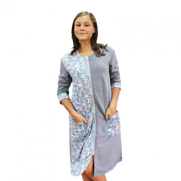 Серая домашняя одежда для женщины