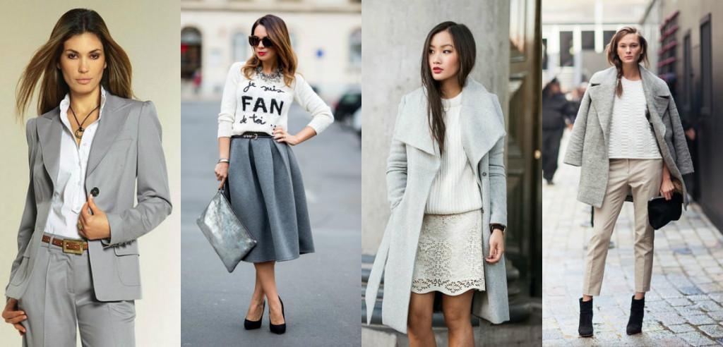 Серый цвет деловой одежды