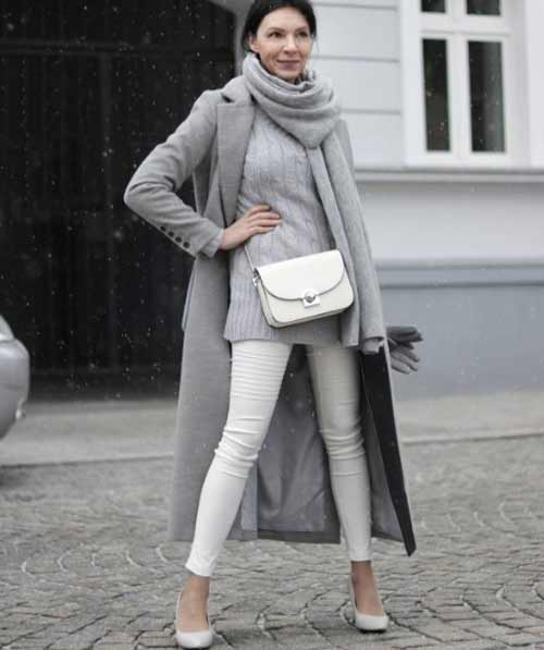 Сочетание серый+белый