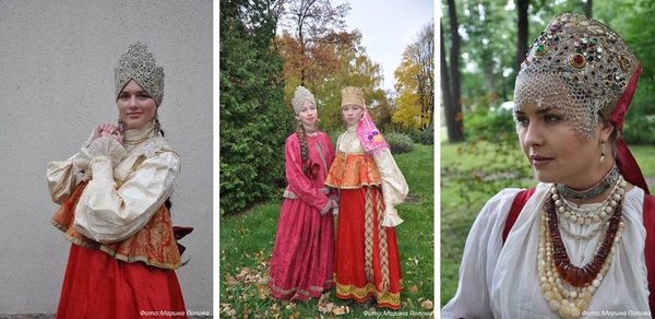 Старинная традиционная русская одежда XVIII-XIX