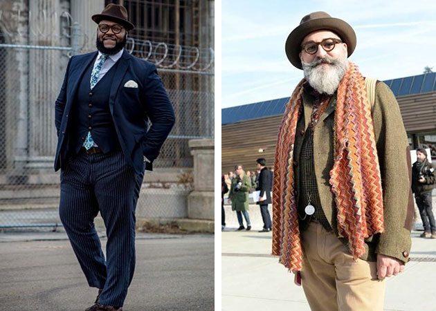 Стильные полные мужчины в шляпах