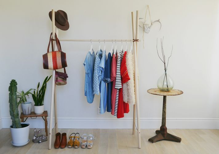Стойка для одежды напольная