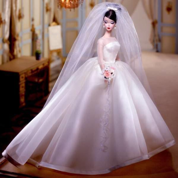 Свадебное красивое белое платье
