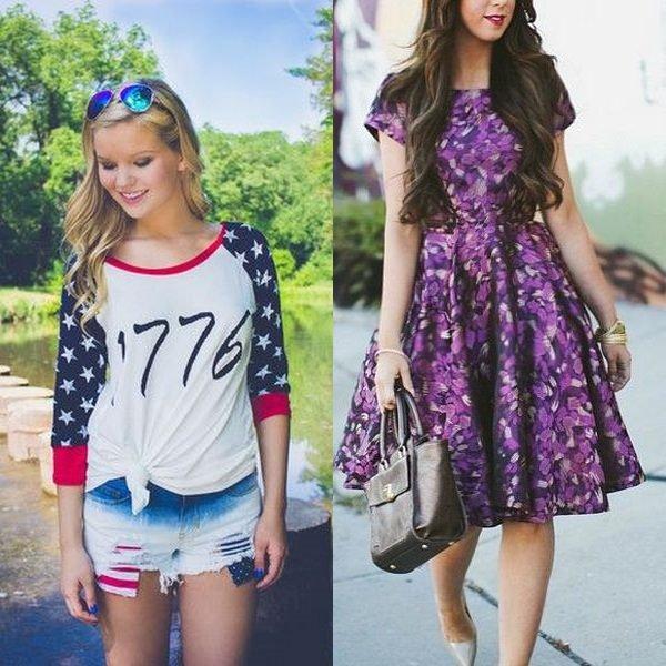 Цветочные подростковые платья
