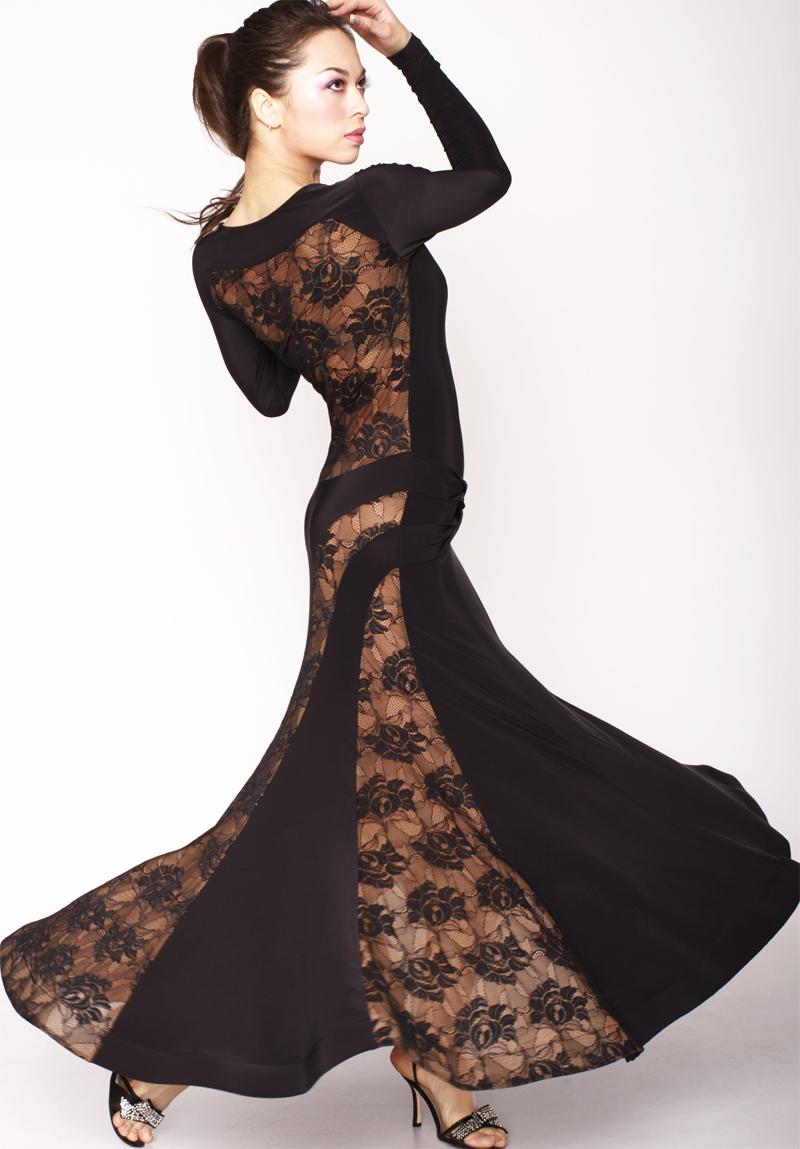 Танцевальное черное платье