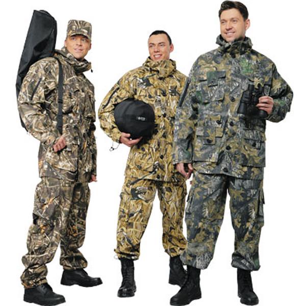 Типы одежды для охоты
