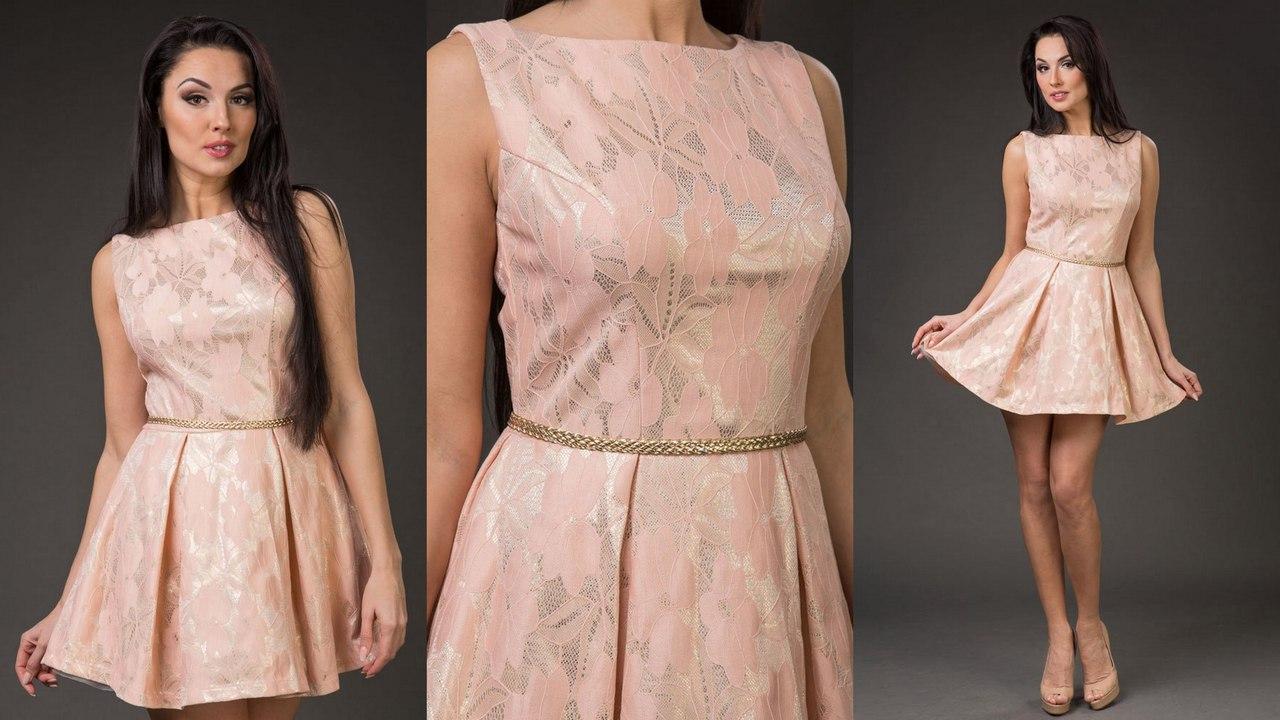 Вечернее платье пудра