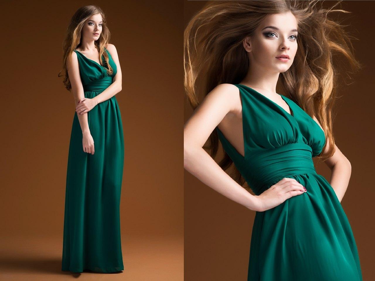 Вечерние платья зеленого цвета