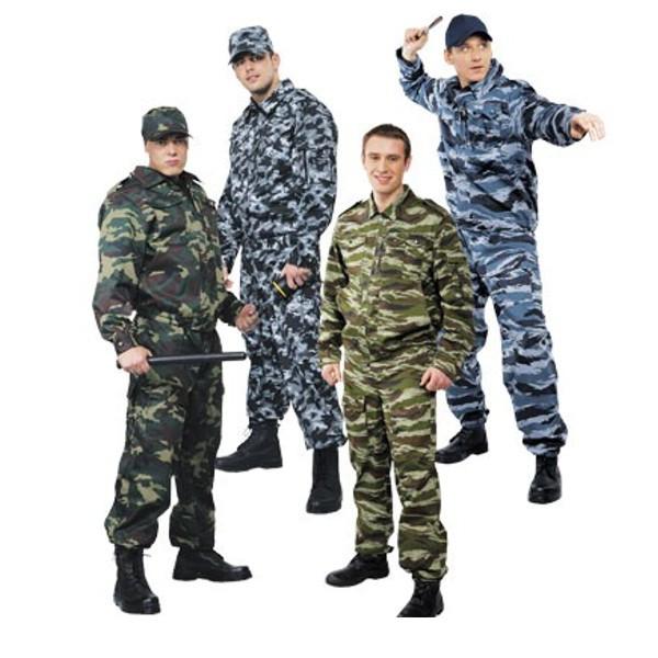 Виды специальной одежды для военных