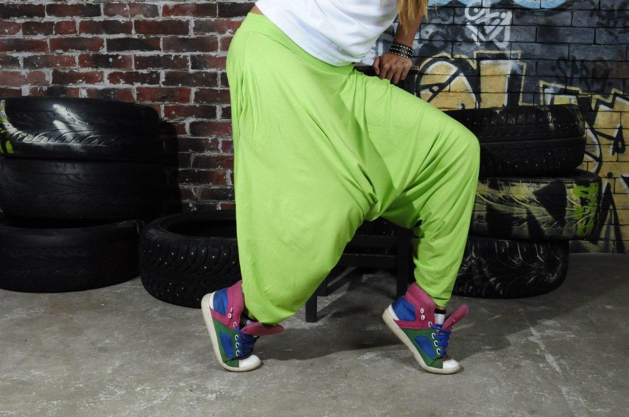 Выкройка штанов брюк для хип хоп