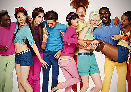 Яркая детская одежда Benetton
