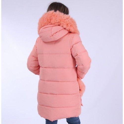 Зимнее пальто био пух