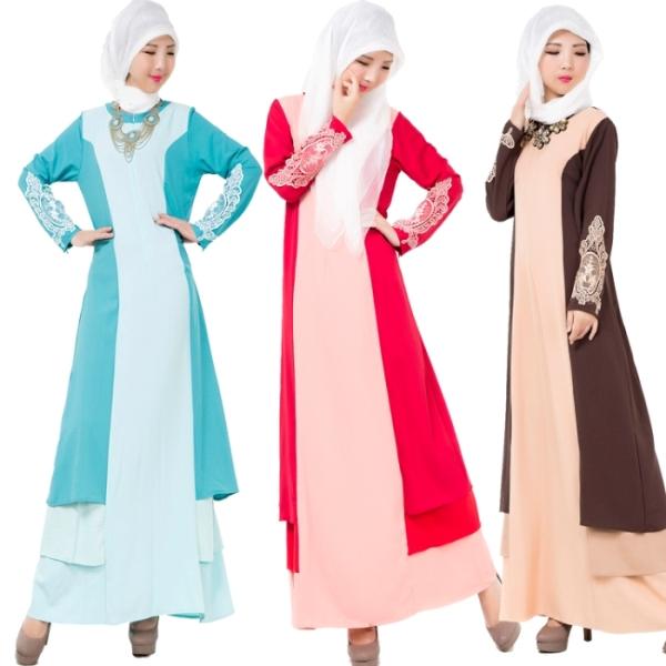 Длинные мусульманские платья