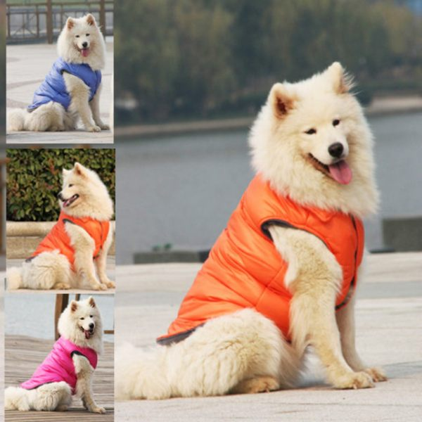 Цветное пуховое пальто