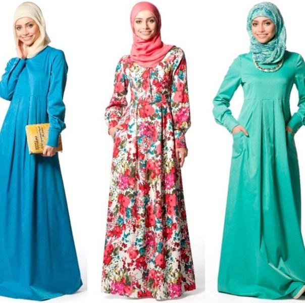 Макси платья для мусульманок
