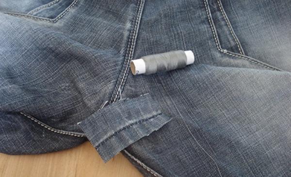 Реставрация джинсовых брюк