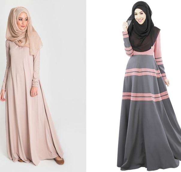 Скромное женское платье