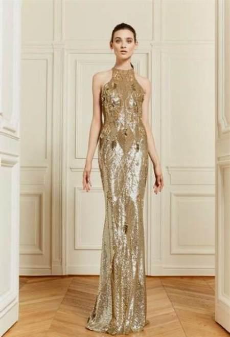 Золотистое платье Chanel