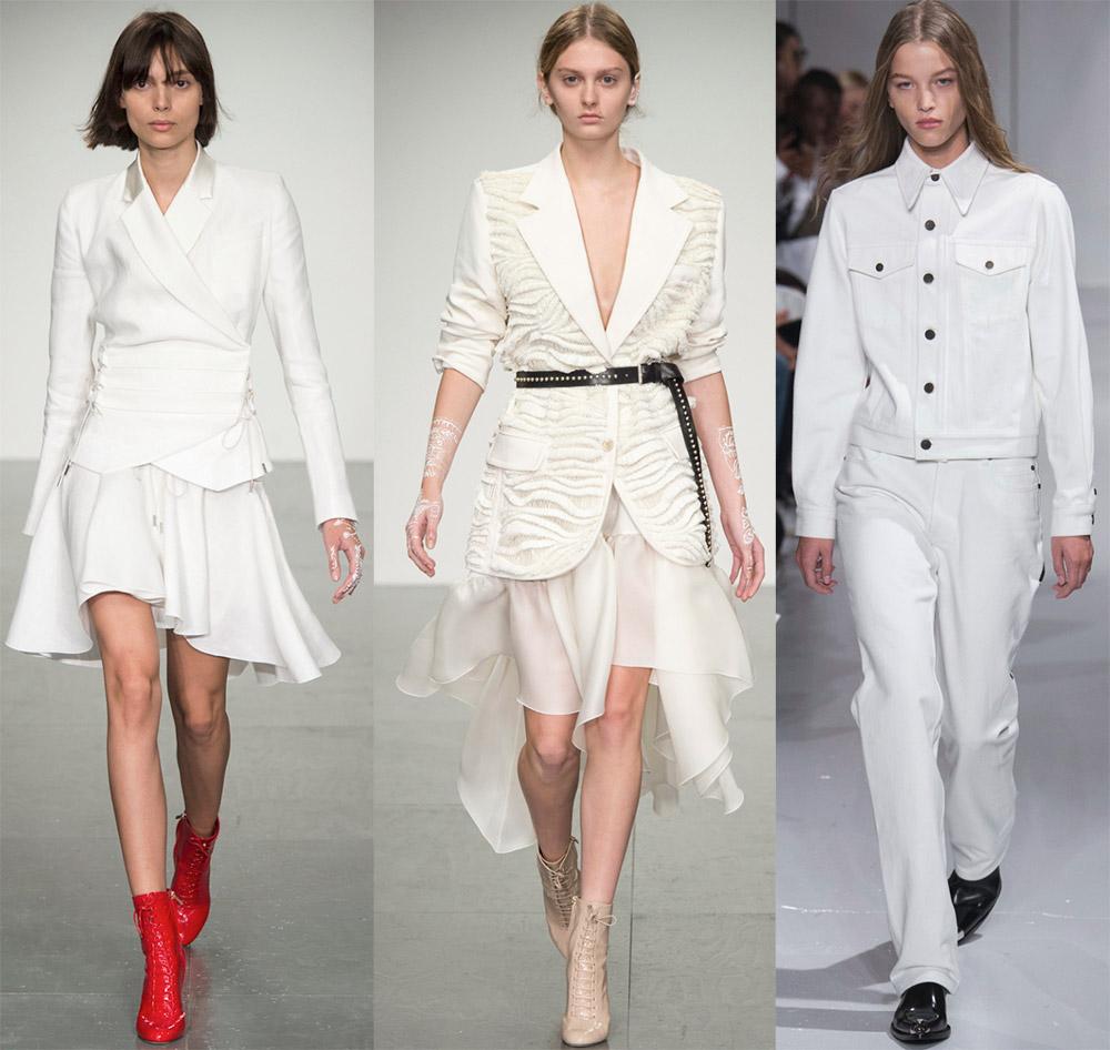 Белый костюм в стиле Шанель