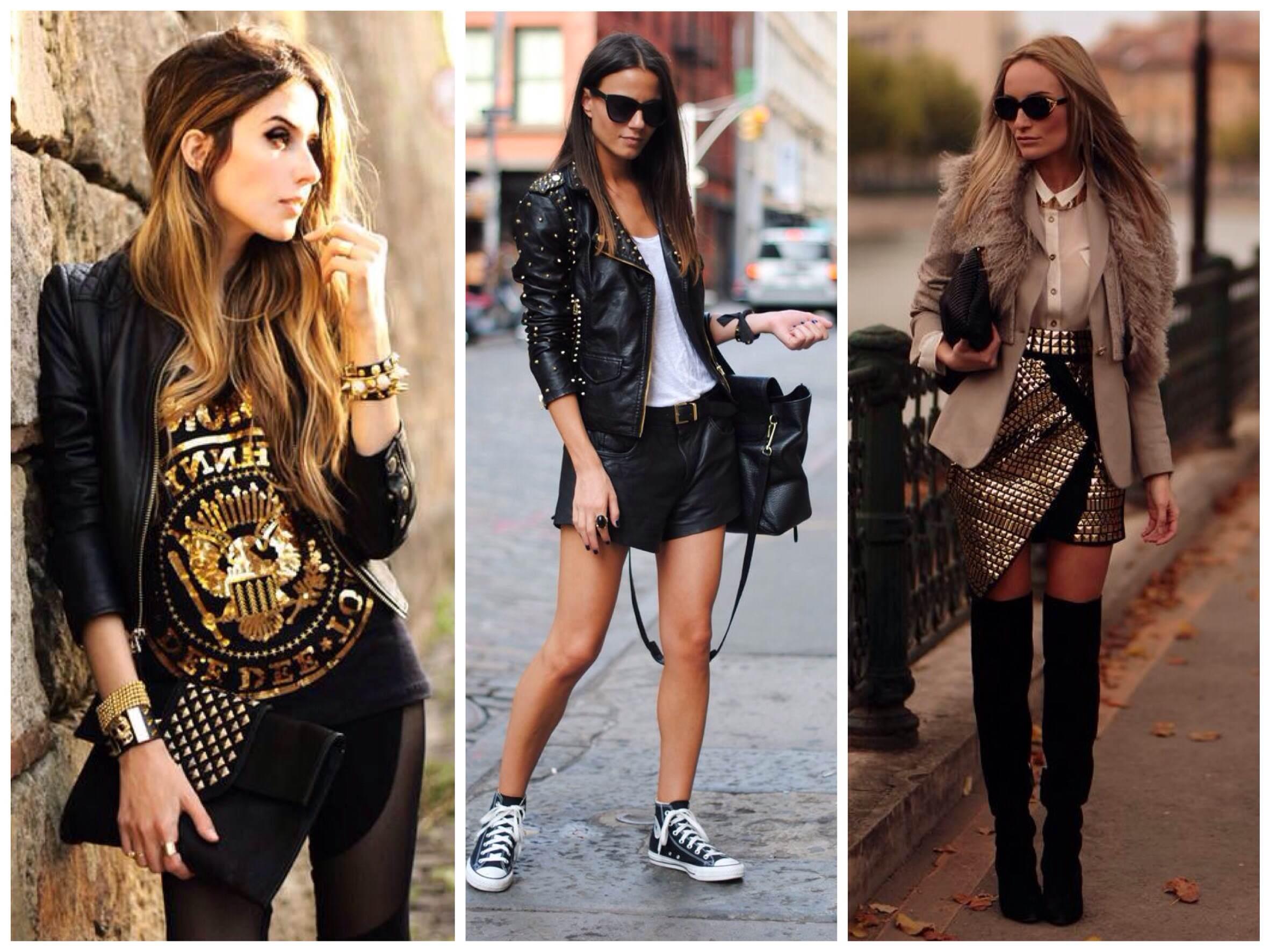 Девушка в стиле рок