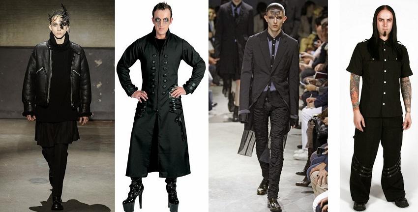 Готический стиль в одежде мужчин