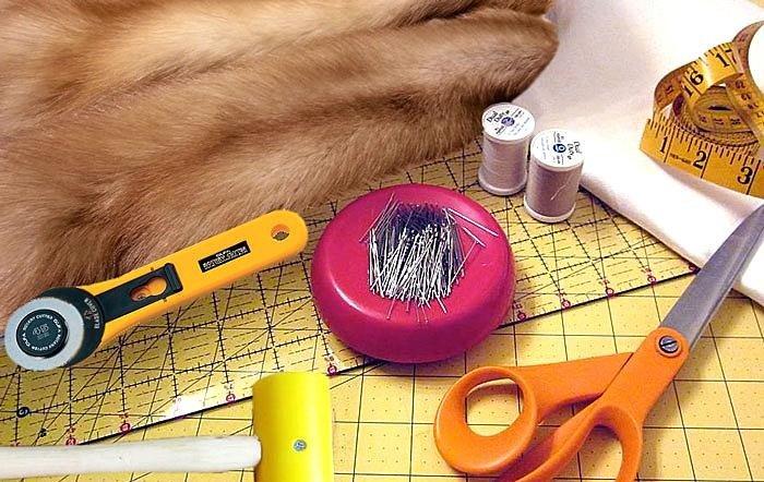 Инструменты для реставрации шубы