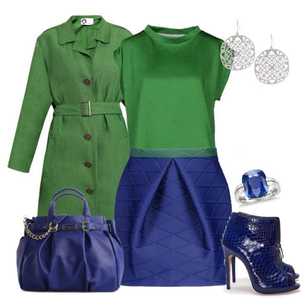 Зеленое пальто: с чем носить