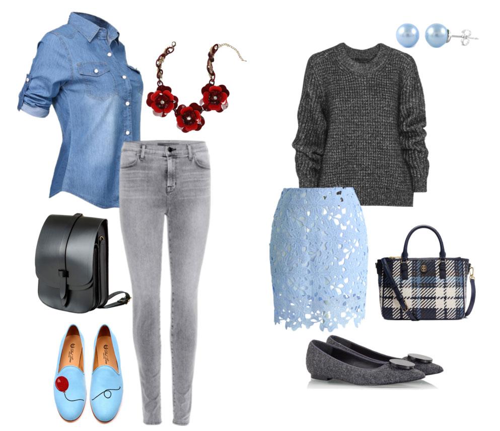Как сочетать серый и голубой цвета
