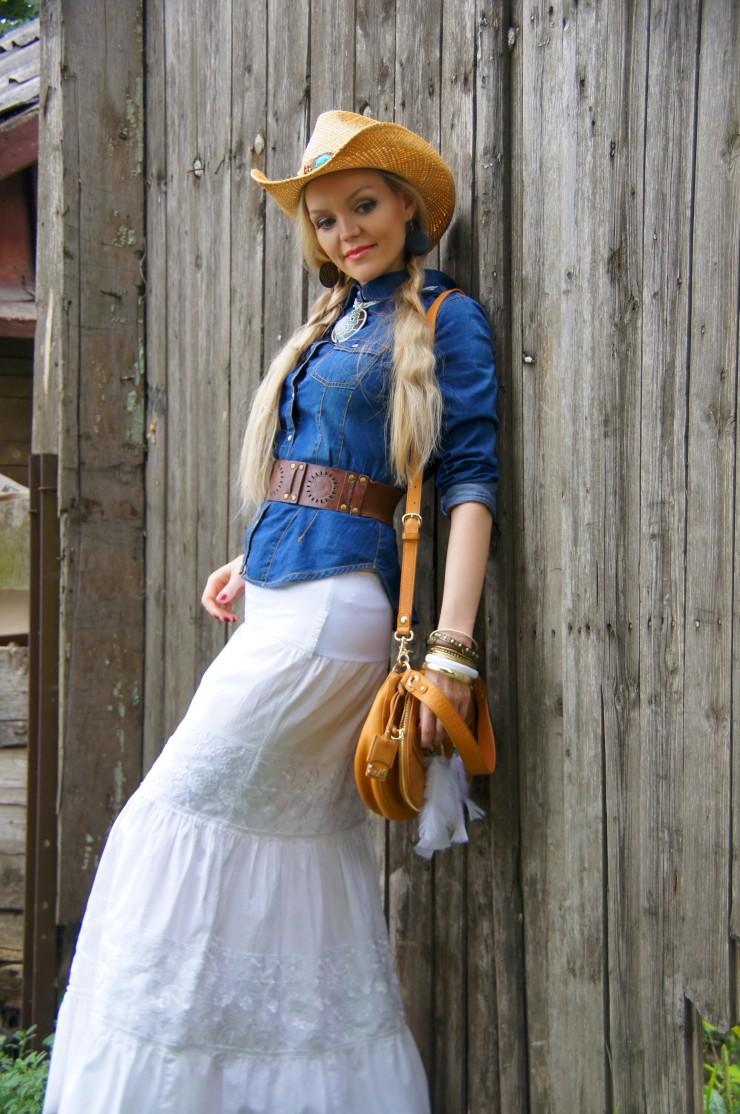 Ковбойский стиль в женском наряде