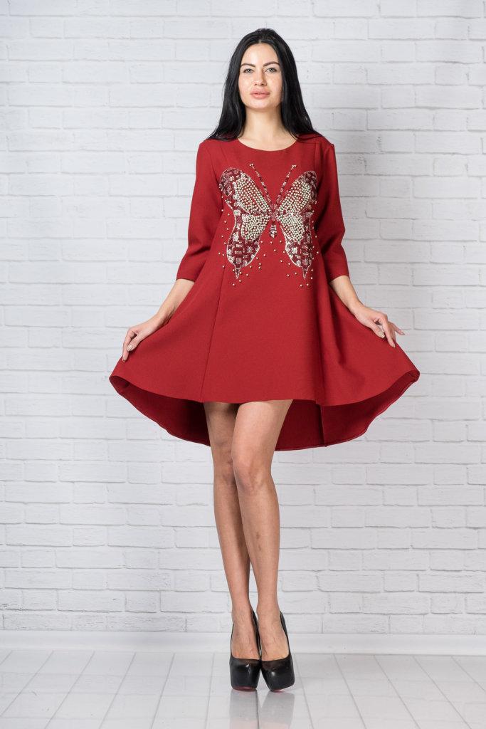 Красное платье фирмы Black Rich