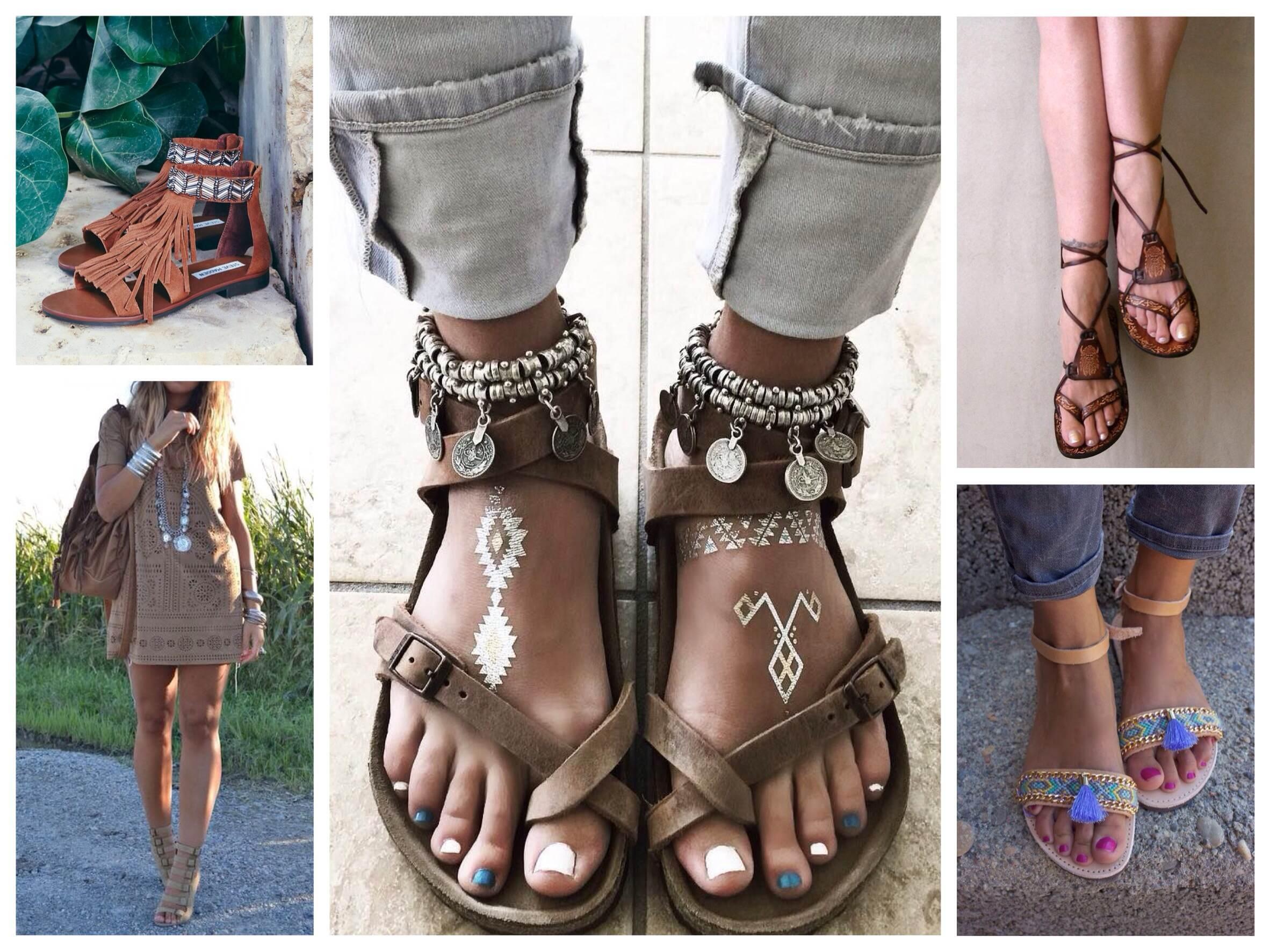 Летняя этно обувь