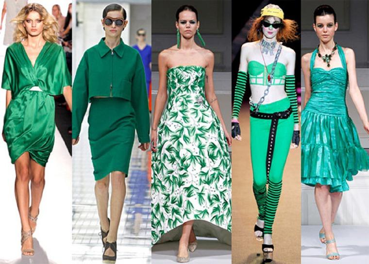 Модный зеленый в одежде