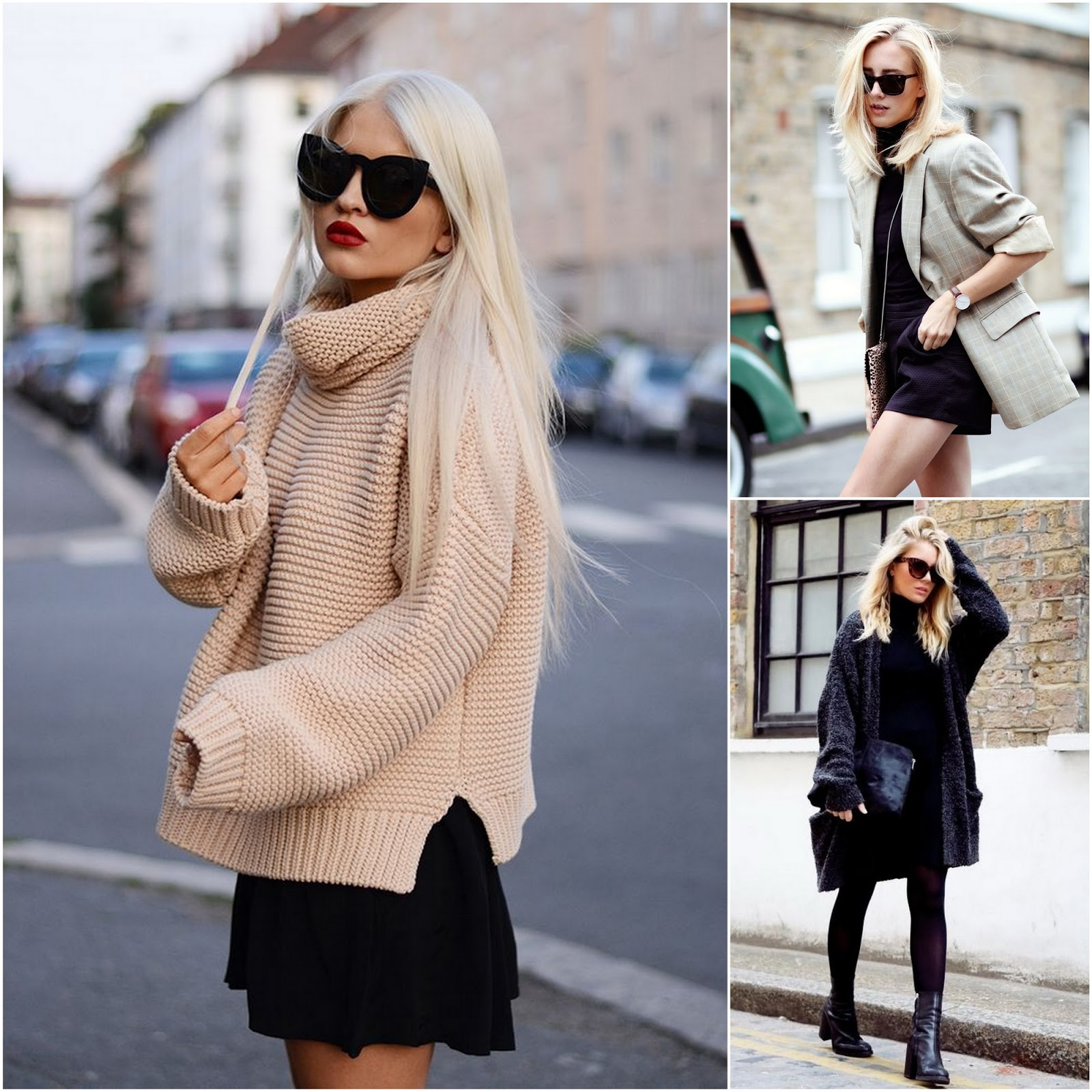 Пиджак или джемпер оверсайз в качестве верхней одежды