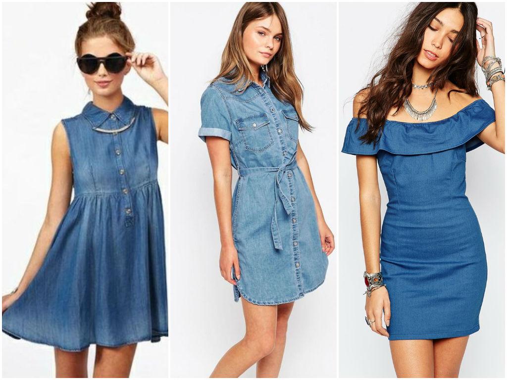 Платья из джинсовой ткани